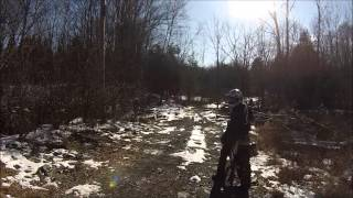 6. CRF100, RMZ250, and Jeep Wrangler YJ Snow Riding