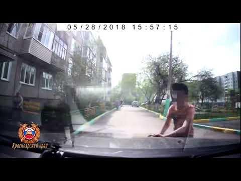 Машина сбила 11-летнего велосипедиста во дворе жилого дома в Красноярске