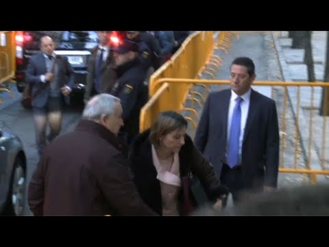 Catalan parliament speaker arrives at court on 'sedition' charge