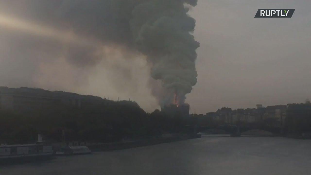 Πυρκαγιά εκδηλώθηκε στην Παναγία των Παρισίων