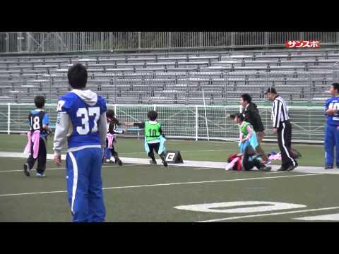 第5回エキスポフラッシュカップ 豊中市立新田小学校C-豊中市立豊島小学校チームてしまのフラッグフットボールの試合