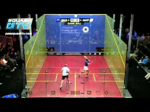 Squash : Delaware Investments US Open 2012 Men's Quarter final Nick Matthew v Amr Shabana