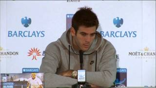 Tennis Highlights, Video - Juan Martin del Potro Reacts to Loss to Roger Federer in London