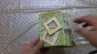 An accordion fold style mini album