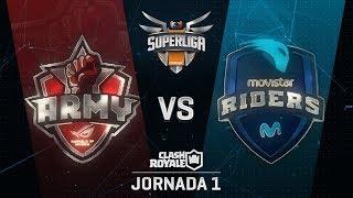 SUPERLIGA ORANGE - ASUS ROG ARMY VS MOVISTAR RIDERS - Jornada 1 - #SuperligaOrangeCR1