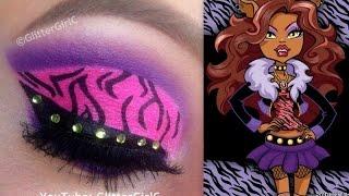 Monster High's Clawdeen Wolf Makeup Tutorial - YouTube