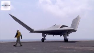 X-47B Drone & Manned F-18 Takeoff & Land Together