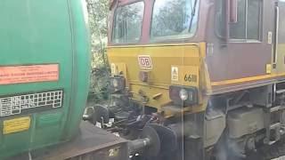 Lairg United Kingdom  city photo : 66111 pulls the regular fuel train out of Lairg Station BR Scotland UK Railways