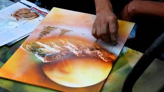 Video Magic Spray Paint Art - Attila Hlásznyik from Hungary MP3, 3GP, MP4, WEBM, AVI, FLV September 2019
