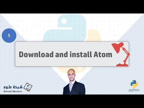 Download and Install Atom on Windows   تنزيل وتثبيت محرر أتوم