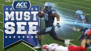 October 27, 2012: With 13-seconds left, UNC's Gio Bernard takes the punt return for a 73-yard game-winning touchdown to snap a 5-game losing streak to NC ...
