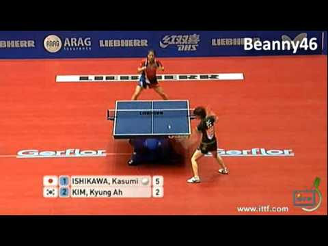 ishikawa - Kasumi Ishikawa (Japan) vs Kim Kyung Ah (South Korea) LIEBHERR 2012 World Team Table Tennis Championships,25 Mar 2012 - 01 Apr 2012, Dortmund, GER Women's Te...