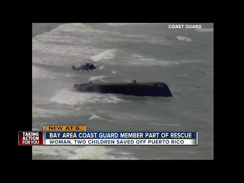 Clearwater Coast Guard rescues family during Hurricane Maria