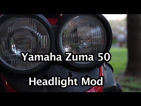Yamaha Zuma 50cc Headlight Mod