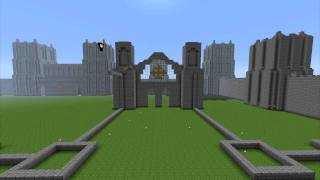 Minecraft Cathedral Timelapse: Part 1