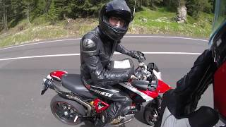 8. Hypermotard SP - Italian dolomites Passo Sella - followed by 1100 evo SP corse edition - GoPro