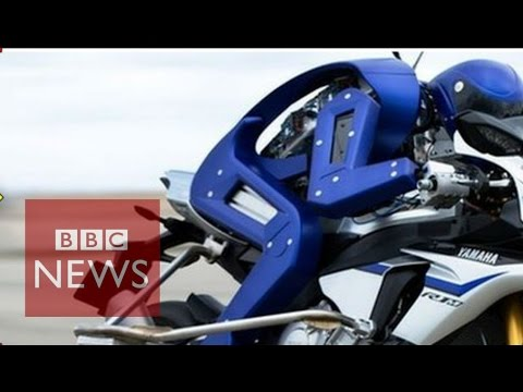 Robot rides Motorcycle in High speed