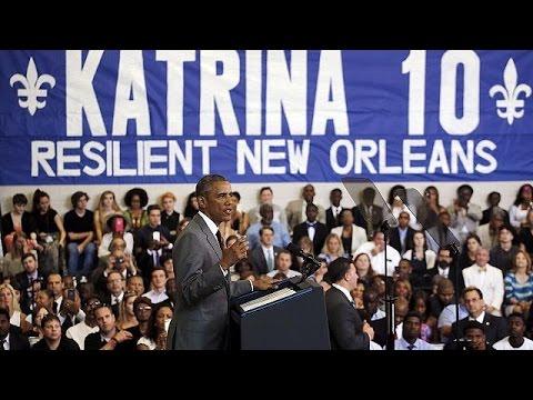 Νέα Ορλεάνη: Επίσκεψη Ομπάμα δέκα χρόνια από το χτύπημα του τυφώνα Κατρίνα