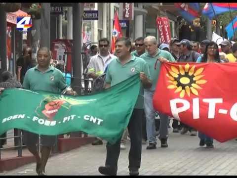 Paro general parcial: Acto del PIT CNT en Paysandú