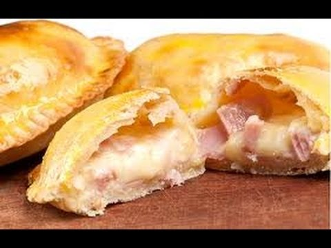 RECETA: COMO HACER EMPANADAS DE JAMON QUESO MUY FACIL Y RAPIDO (MAKING PIES OF HAM AND CHEESE)