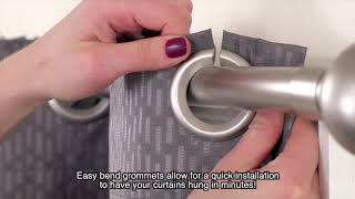 Easy Hang Grommet Window Curtain