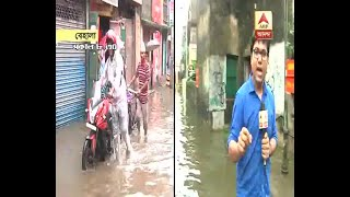 Heavy rainfall causes waterlogging in Behala, here's the detail highlighted by ABP Ananda Correspondent