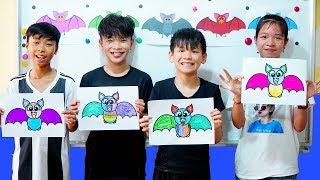 Video Kids go to School Learn Coloring Bat   | Classroom Funny Nursery Rhymes MP3, 3GP, MP4, WEBM, AVI, FLV Mei 2019