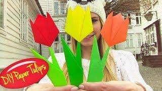 Origami Flower - Easy Paper Flowers! - YouTube