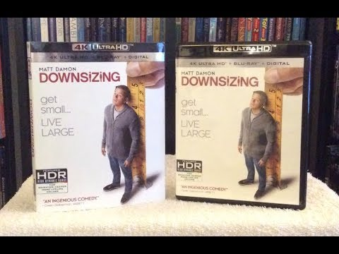 Downsizing 4K BLU RAY REVIEW + UNBOXING - Matt Damon