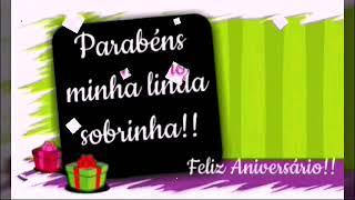 Msg de aniversário - LINDA MENSAGEM DE ANIVERSÁRIO PARA SOBRINHA  Por: Rosa Marques