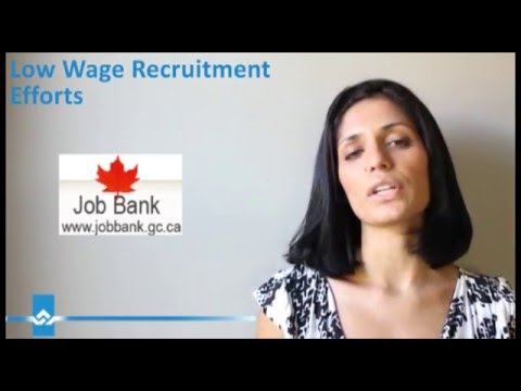 Low Wage Recruitment Efforts Video