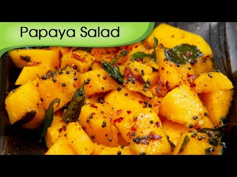 Papaya Salad – Simple, Easy To Make Homemade Healthy, Nutritious Salad Recipe By Annuradha Toshniwal