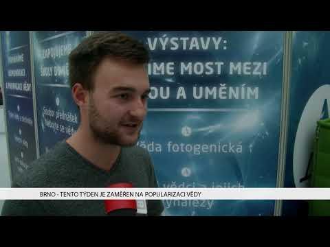 TV Brno 1: 8.11.2017 Tento týden je zaměřen na popularizaci vědy