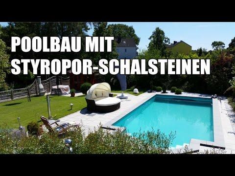 Poolbau mit Styropor-Schalsteinen kompletter Prozess im Video