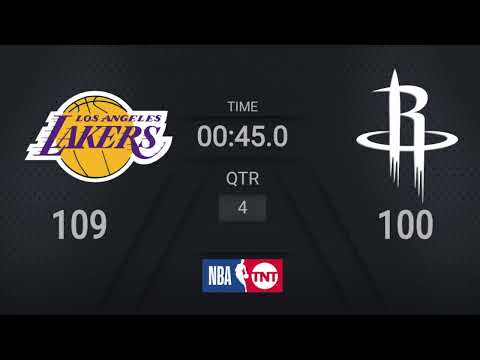 Lakers @ Rockets | NBA on TNT Live Scoreboard | #WholeNewGame