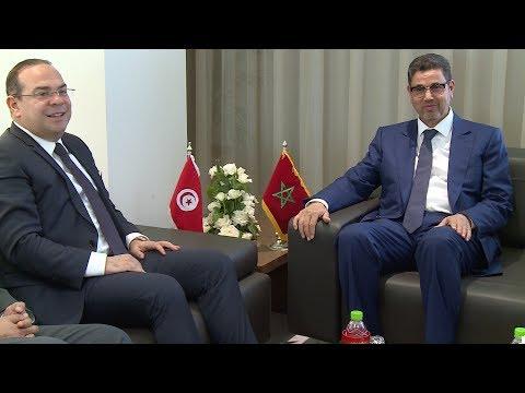 مباحثات بين رئيس النيابة العامة والوزير التونسي المكلف بالعلاقات مع الهيئات الدستورية