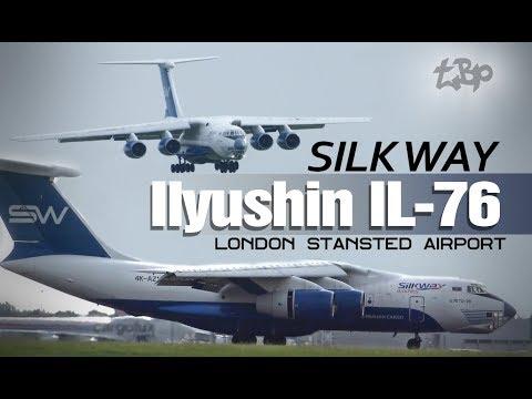 Редкий Илюшин Ил-76 Самолет Лондон - Силквей - Авиационные советские самолеты