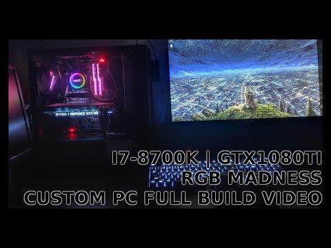 i7-8700k | gtx1080ti | Rog Maximus X Hero - Full build video, making custom PC