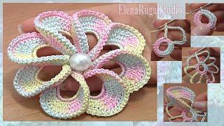 3D Crochet Flower Tutorial