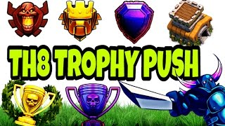 Video TH8 (TOWN HALL 8) TROPHY PUSHING TO TITAN LEAGUE 1. HOW??TH8 TROPHY PUSHING GUIDE | CLASH OF CLANS. MP3, 3GP, MP4, WEBM, AVI, FLV Mei 2017