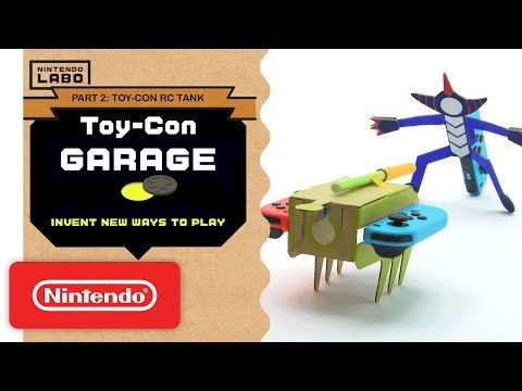 Nintendo Labo - Invent New Ways To Play With Toy-Con Garage - Part 2 (видео)