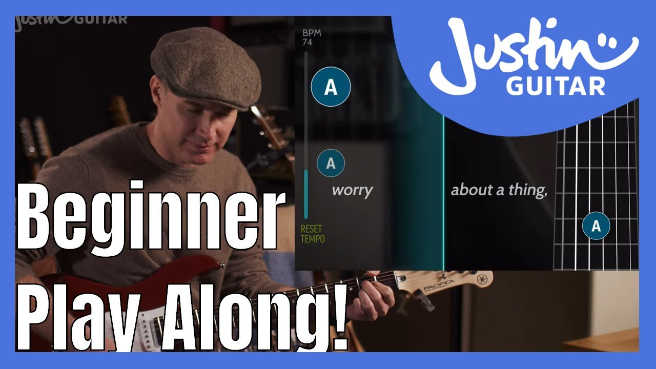 Beginner Play Along with Three Little Birds by Bob Marley Guitar Lesson Guitar-aoke