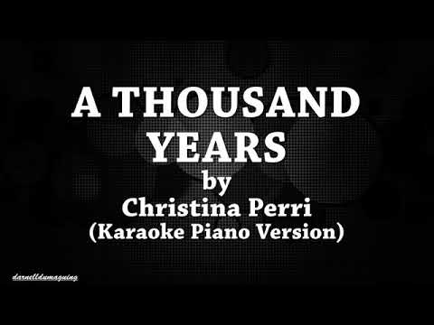 A Thousand years karaoke version