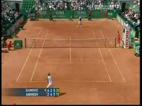 Igor Andreev ante Novak Djokovic en Roma 2008