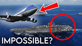Boeing VC-25 (747) Emergency Landing On Aircraft Carrier | GTA 5