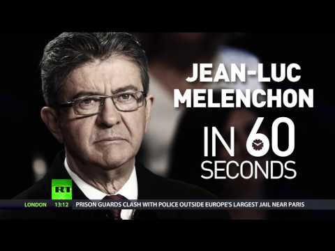 Left on the rise: Melenchon surges ahead in French presidential polls (видео)