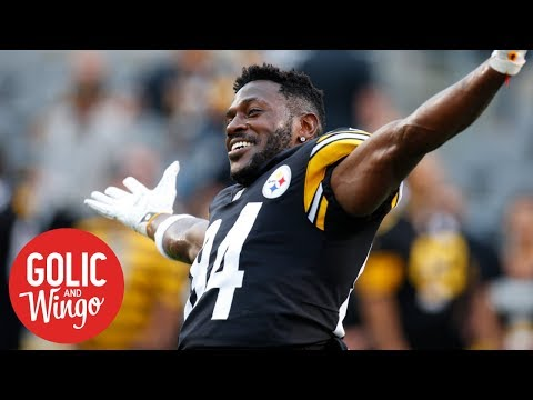 What to make of Mike Tomlin saying Antonio Brown doesn't want a trade  | Golic & Wingo | ESPN (видео)