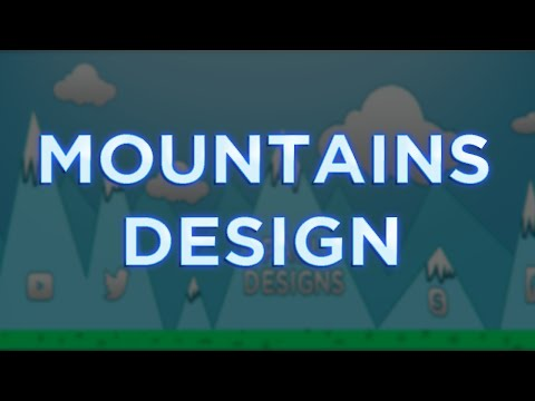 SIMPLE MOUNTAIS DESIGN / By Paul Designs (видео)