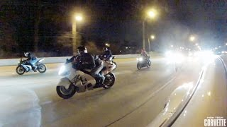 4. 1200hp Porsche Destroys a Pack of Motorcycles