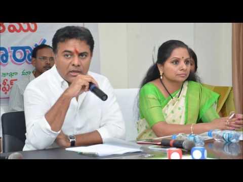 Minister KTR, MP Kavitha Reviewed Development